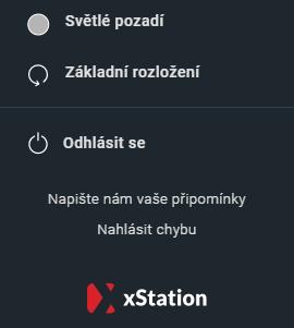 Změna barvy pozadí v xStation 5